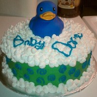 Bath Time Duck Chocolate Cake with Peanut Butter Icing