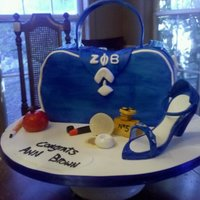 Retirement Bday Retirement cake for a Zeta Phi Beta member