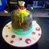 Winnie The Pooh Baby Shower Just delivered this today. Baby Shower with Winnie the Pooh theme. Alternate layers of Chocolate and Vanille with IMBC icing.