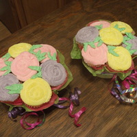 Mother's Day Boquets  My first attempt at cupcake boquets. I've seen several here on CC and on youtube and have been just waiting for the chance to give it...