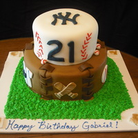 Baseball Bday/championship Cake This boys parents wanted to celebrate his Bday AND his championship game with his friends/team mates/ Chocolate cake with fondant and...