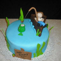 Sleeping Fisherman I made this cake for my brothers birthday :) My first human figurine