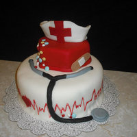 Nurse Cake My moms Bday cake..shes a nurse. This cake was a pain and gave me a lot of trouble. Not happy at all with the way it turned out but Im...