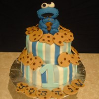 Cookie Monster 1St Bday Cake Inspired by a cake I saw on here. Thank you for looking :)