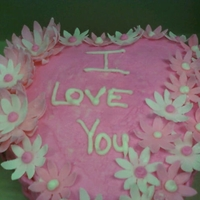 I Love You Heart Cake Heart shaped strawberry cake