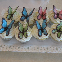 Butterfly Cupcakes With Afternoon Luncheon Butterfly cupcakes made for an open house/lucheon.