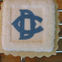 Camp Logo Cookies Made for some kids that are away at camp. Made with frosting sheets.