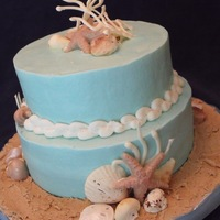 Jill's Shower Cake Iced with ABC, decorations are white chocolate, colored with petal dust. TFL