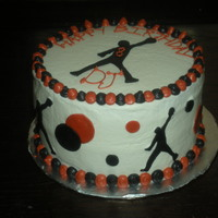 Basketball Cake This cake was fun to do. I made this for a young man who's turning 8. He loves Jumpman.