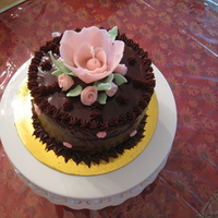 Chocolate Cake With Fantacy Flower