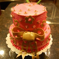 Hot Pink & Gold Cake With Jello Shots