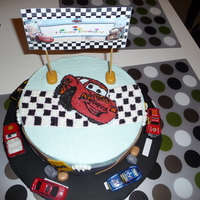 Car's Theme Cake This is my first vegan chocolate cake.