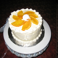 Orange Cake This is a fresh orange cake with an orange cream cheese frosting. I got the recipe out a Paula Dean magazine. It really was delicious.