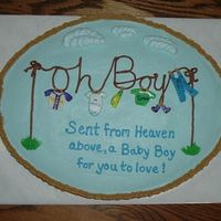 Laundry Basket Baby Shower Cake I made this for a baby shower where my daughter teaches 1st grade. The credit for the pattern goes to Amylou who posted her cake pic a...