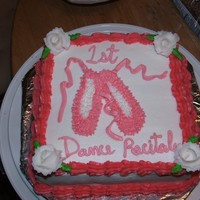 1St Ballet Recital I made this cake for my girls 1st ballet recital