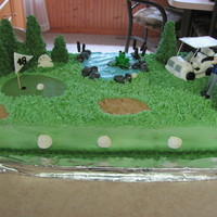 Golf Week This was 6 9x13 cakes made into a golf course.