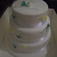 Butterfly Wedding Cake 3 tier stacked wedding cake with modelling paste butterflies