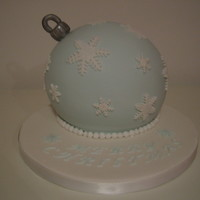 Christmas Bauble Cake Fondant Christmas Bauble Cake