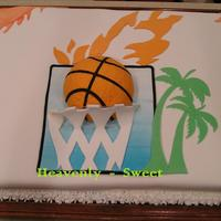 Basketball   My first cake decoration in 3-D. For a very special little boy and teammates. It was a lot of fun to make this one!!!