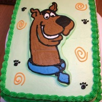 Scooby Doo Frozen Buttercream Transfer. Inspired by photos on this wonderful website. :)