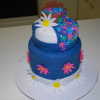 Wilton Final Cake - Level 4 This is my final cake of all my Wilton classes. It's yellow cake with vanilla buttercream icing and covered in fondant. It was my...