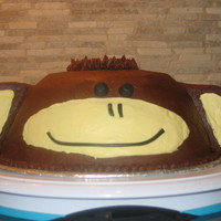 Chocolate Banana Monkey Cake
