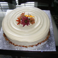 Autumn Cake Pumpkin spice cake with Royal Icing flowers