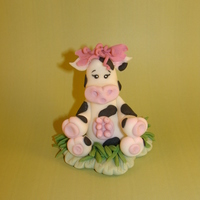 Udderly Adorable   Hand made using fondant.