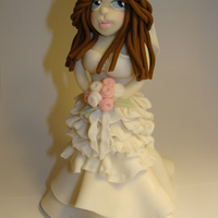 Bride Hand sculpted using fondant.