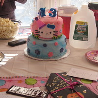 Hello Kitty Birthday Cake Hello Kitty Birthday Cake for my daughter's surprise 13th birthday party!
