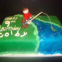 Boy Fishing Cake