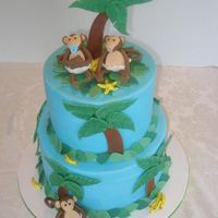 Baby Monkeys Monkeys in diapers for a baby boy shower. BC with fondant accents.