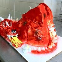 Dragon Cake Red Dragon Cake I made in class