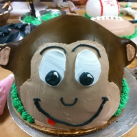 Monkey Cake Monkey Head I made in Class