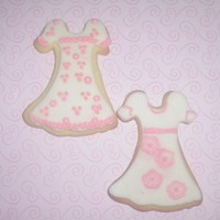 Taylor's Dresses My niece asked me to make her pink and white cookies. Who am I to say no to an adorable kid? MMF and RI.