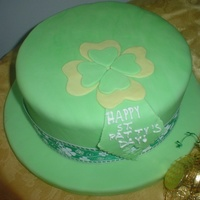Lucky Hat! Bailey's Irish Cream (hint of caramel) pound cake with homemade caramel frosting and covered in fondant. Cake is a variation of the...