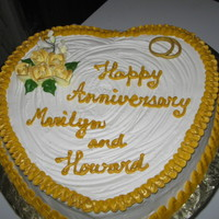 Marilyn And Howard Rum cake coverd with royal icing made for a friend's sister and husband