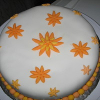 Surprise Birthday Cake For A Friend Rum cake covered with almond paste then fondant