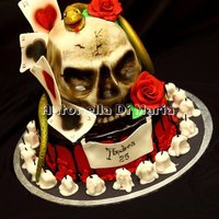 Skull Tattoo Metal Cake