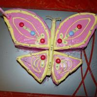 Butterfly Cake !!!! Lemon Yogurt cake with Vanilla icing ..........