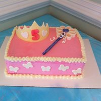 Princess Alex   buttercream covered cake with MMF tiara, wand, & accents.