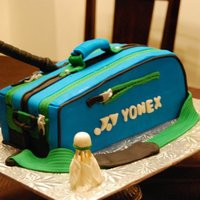 Badminton Bag Cake