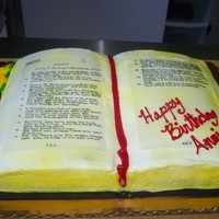 Psalm 91 Cake Didn't turn out as good as I wanted....it is suppose to look old like an old family bible...but my printer wasn't working so I...