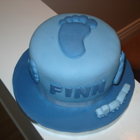 Baby Boy Cake   my first go using moulds, as I practiced I got better!!