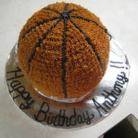 Shootin' Hoops For A Happy Birthday!   My first attempt at a 3-D cake! A birthday cake for a co-workers son.