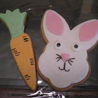 Easter Cookies   Bunny Rabbit and Carrot