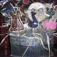 Homecoming Cookie Bouquet Here is the finished cookie bouquet for my daughters big sister in band. All cookies are NFSC. Thanks for looking!