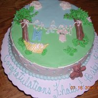 Kahla's Baby Shower I made this cake for a girl at my daughters work. I couldn't decide which design I liked better, so I made both, this is the first of...