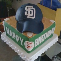 San Diego Padres Cake I made this cake for my husband, got the idea from another cake posted on here, but I thought I would add the San Diego Padres logos, since...