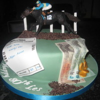 Horse Racing / Betting Birthday Cake